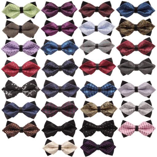 Diamond Tip Pre-Tied Bow Tie