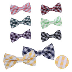 Gingham Check Pre-Tied Bow Tie