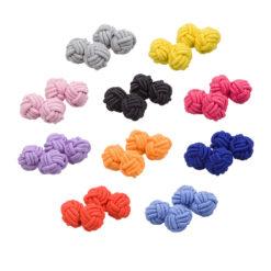 Plain Knot Fabric Cufflinks