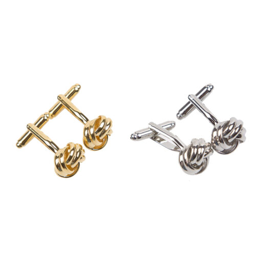 Plain Knot Metal Cufflinks