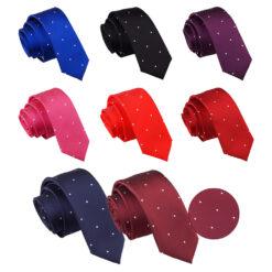 Pin Dot Skinny Tie