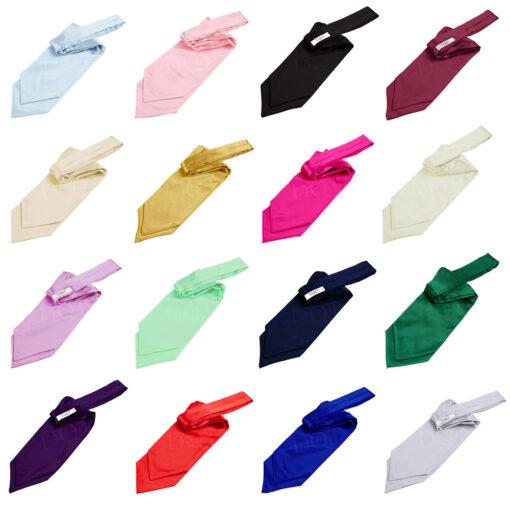 Plain Satin Self-Tie Cravat