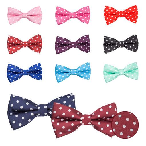 Polka Dot Pre-Tied Bow Tie