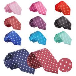 Polka Dot Slim Tie