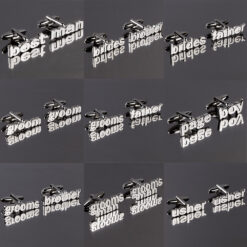 Cut Out Words Wedding Cufflinks