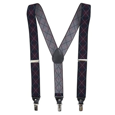 Burgundy & Navy Diamond Braces