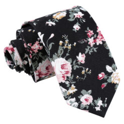 Floral Primrose Cotton Slim Tie