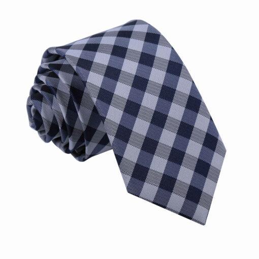 Gingham Check Slim Tie