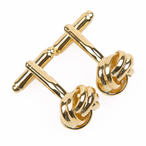 Plain Knot Metal Cufflinks