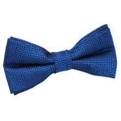 Greek Key Pre-Tied Bow Tie