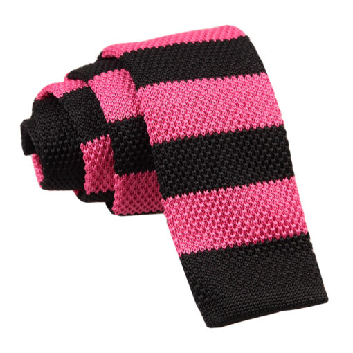 Knitted Striped Skinny Tie
