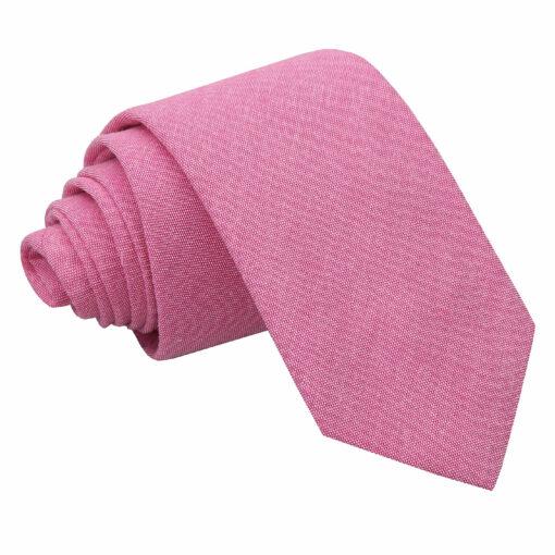 Chambray Cotton Slim Tie