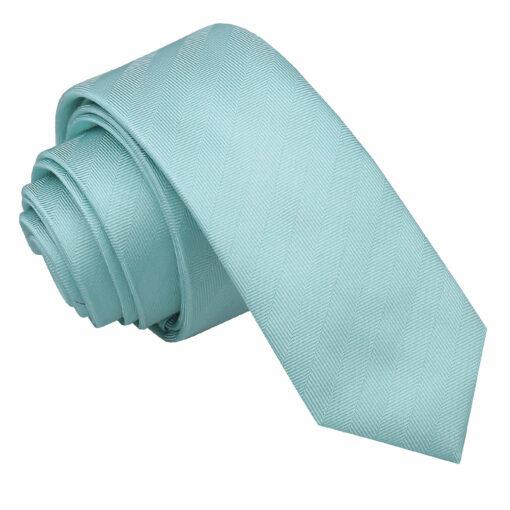 Herringbone Silk Skinny Tie