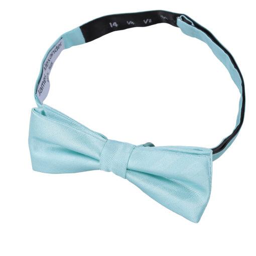 Herringbone Silk Batwing Pre-Tied Bow Tie