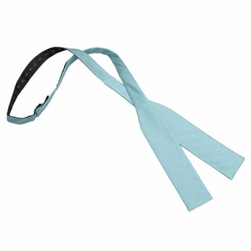 Herringbone Silk Batwing Self Tie Bow Tie