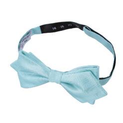Herringbone Silk Pointed Pre-Tied Bow Tie