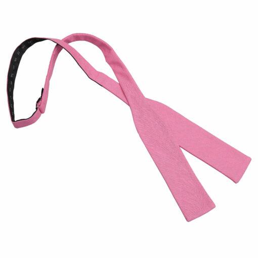 Hopsack Linen Batwing Self Tie Bow Tie