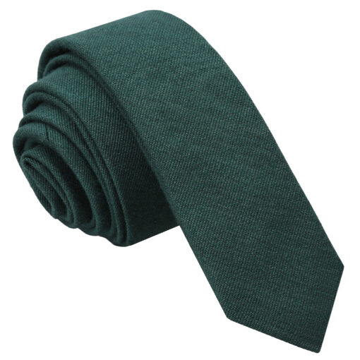 Ottoman Wool Skinny Tie