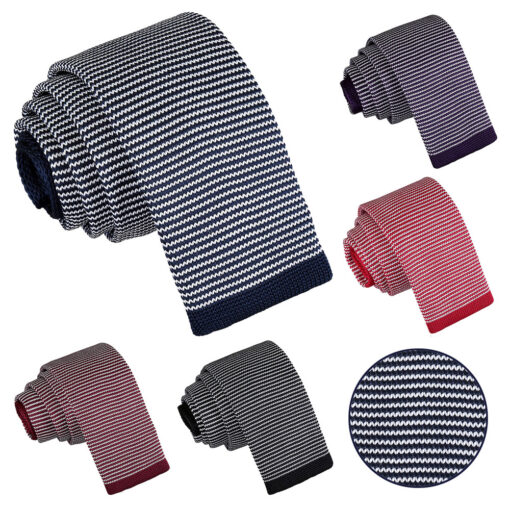 Pin Stripe Knitted Skinny Tie