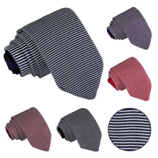 Pin Stripe Knitted Slim Tie