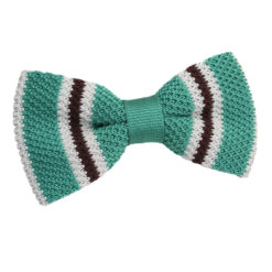 Knitted 3 Thin Stripe Bow Tie