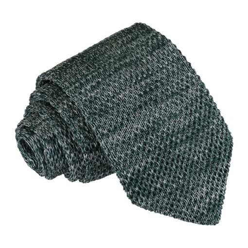 Melange Plain Speckled Knitted Slim Tie