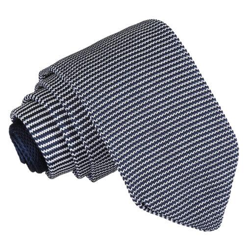 Pin Stripe Knitted Slim Tie