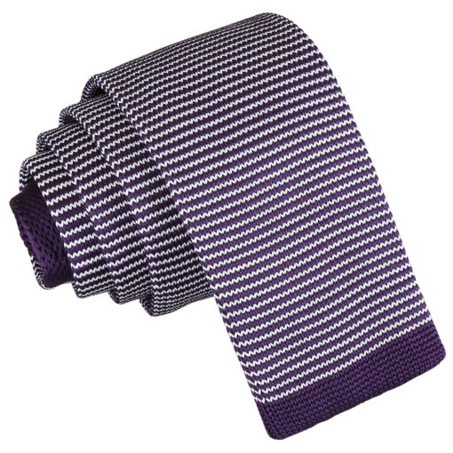 Pin Stripe Knitted Skinny Tie