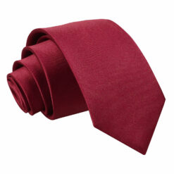 Plain Satin Classic Tie - Boys