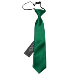 Plain Satin Elasticated Tie - Boys