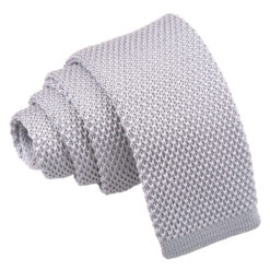 Plain Knitted Skinny Tie