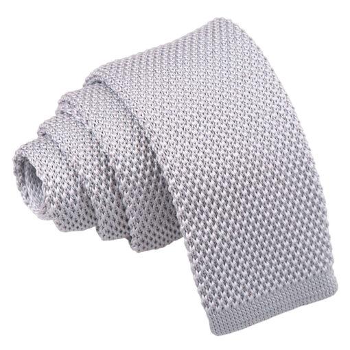 Plain Knitted Skinny Tie