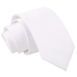 Plain Satin Slim Tie