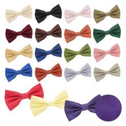 Plain Shantung Pre-Tied Bow Tie