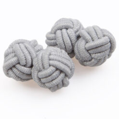 Plain Knot Fabric Cufflinks