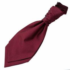 Solid Check Pre-Tied Ruche Cravat - Boys