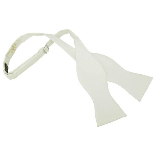 Solid Check Self-Tie Bow Tie