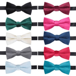 Plain Velvet Pre-Tied Bow Tie