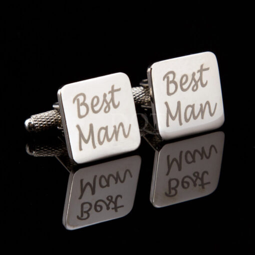 Laser Wedding Cufflinks